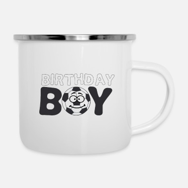 Brother Of Birthday Boy Soccer Birthday Boy Birthday for boy boys - Enamel Mug