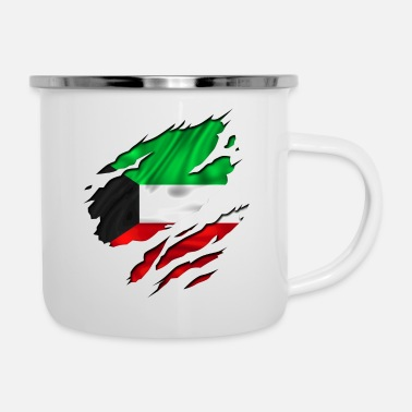 Designs Guinea Visit Wear Logo Nation With African koweit koweït kuwait - Enamel Mug