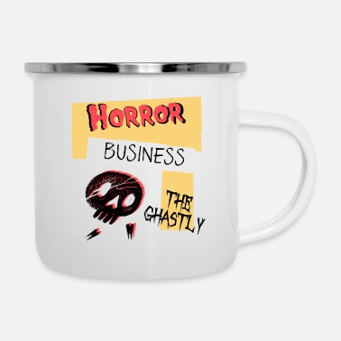 Ghastly Horror Business Halloween - Enamel Mug