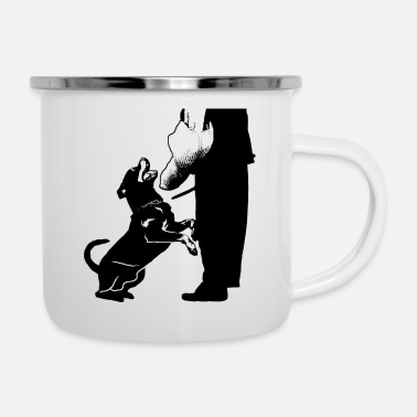 Protection Service Rottweiler in the protection service - Enamel Mug