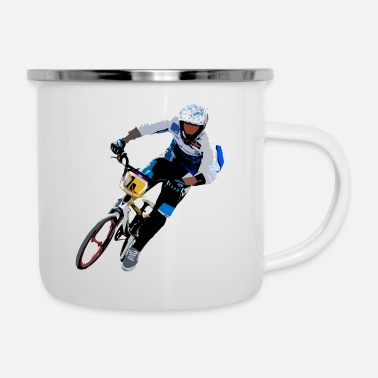 Big Air bike bmx vtt - Enamel Mug