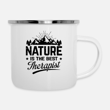 Nature is the best therapist - Emaille mok