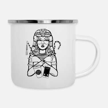 Black And White Collection Cleopatra CEO - Enamel Mug
