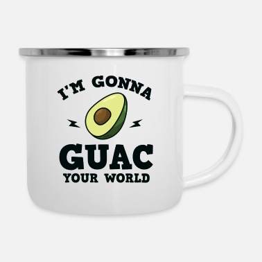 Common Tropical Fruits Cool I'm gonna GUAC your world T-Shirt - Enamel Mug