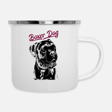 Boxer Deutscher Boxer Hund - German Boxer Dog - Emaille-Tasse