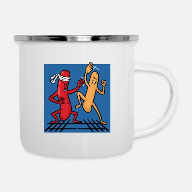Fight Sausage Fight - Emaille-Tasse