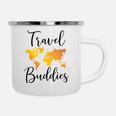 Travel Travel Buddies Reisepartner Reisen Geschenk - Emaille-Tasse