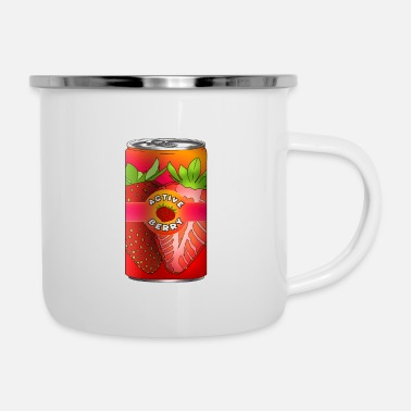 Drinking Strawberry energy drink for gift idea for kids - Enamel Mug