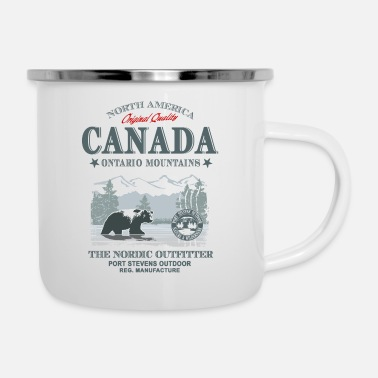 Kanada Canada - Grizzly Bear - Emaille-Tasse