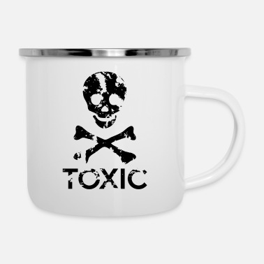 Grungy Grungy Warning Sign – Toxic - Enamel Mug