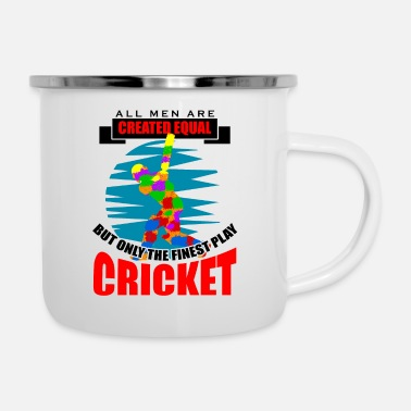 Moneygram Cricket all men are created equal but only the fin - Emaille-Tasse