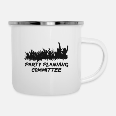 Word Comedy Party Party planning committee - Enamel Mug