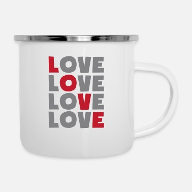 Loves love love love love - Enamel Mug