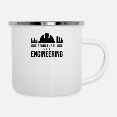 Structure Structural engineering team structural engineer structural engineer - Enamel Mug