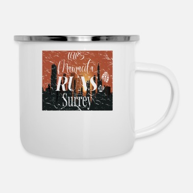 Surrey This Mamacita Runs Surrey Tee for Joggers and Runn - Enamel Mug