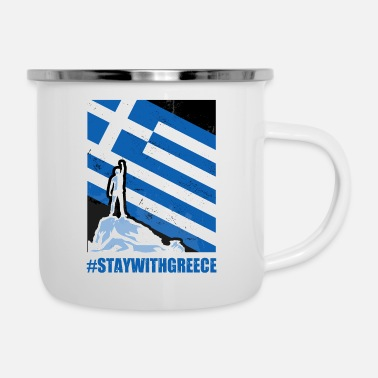 Griechenland Stay with Greece Griechenland - Emaille-Tasse