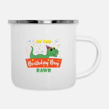 Brother Of Birthday Boy Birthday Boy Brother Dinosaur Funny Dinosaurs Brot - Enamel Mug