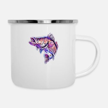 Lachs Lachs - Emaille-Tasse