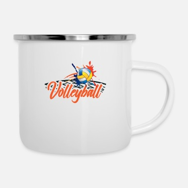 Volleyball Player Volleyball player volleyball player gift - Enamel Mug