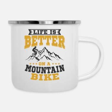 Mountain Mountain bike - Enamel Mug