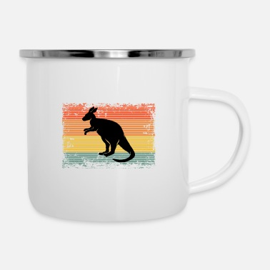 Nature Vintage Kangaroo Animal Gift Idea - Enamel Mug