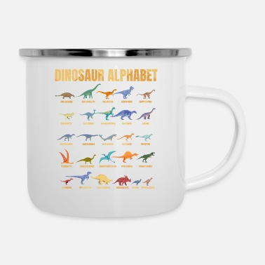 Fun Dinosaur Alphabet - Types Of Dinosaurs - Dino - Emaille-Tasse