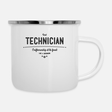 Schublehre Best technician - craftsmanship at its finest - Enamel Mug