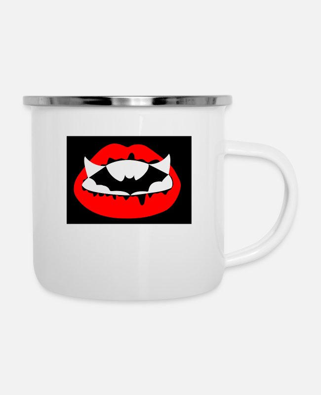 Bat Mugs & Drinkware - The Vampire - Enamel Mug white