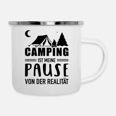 Pause Camping - Emaille-Tasse