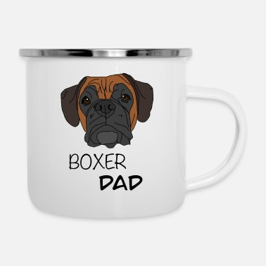 Boxer Boxer Dad Boxer Dog Design - Emaille-Tasse