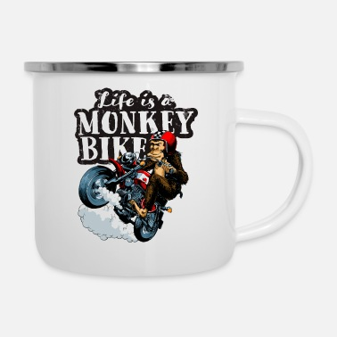 Monkey Life is a monkey bike - Enamel Mug