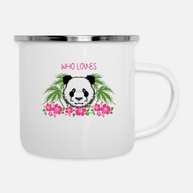 Kleinkind Just A Girl Who Loves Pandas Panda Mädchen Outfit - Emaille-Tasse