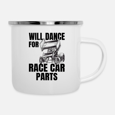 Sprint RACE CAR DIRT TRACK RACING dance for Race Car Part - Emaille-Tasse