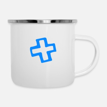 Plus Plus - Emaille-Tasse