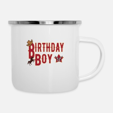 Brother Of Birthday Boy Birthday boy birthday gift boy - Enamel Mug
