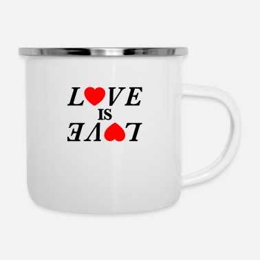 Loves Love is Love Love is love - Enamel Mug