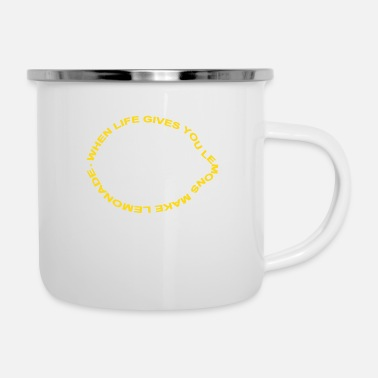 Inteligente when life gives you lemons make lemonade - Taza esmaltada