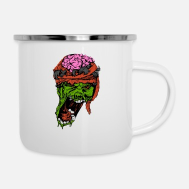 Zombie Undead Eng Halloween - Emaille mok