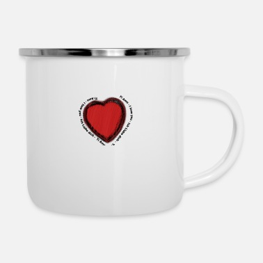 Dear heart painting - Enamel Mug