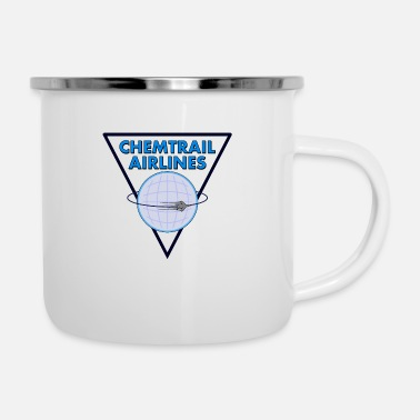 Airline Chemtrail Airlines Pilot - Emaille-Tasse