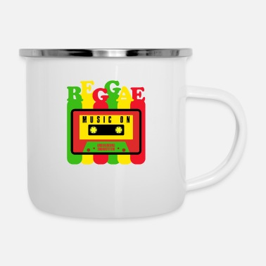 Reggae Music REGGAE MUSIC ON - Enamel Mug