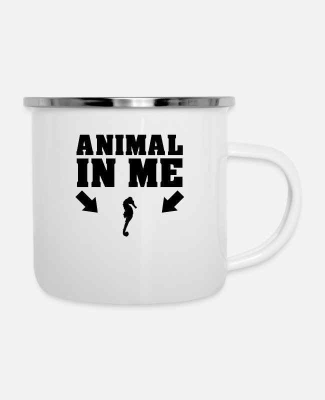 Animal Liberation Tassen & Becher - Das Tier in mir - Emaille-Tasse Weiß
