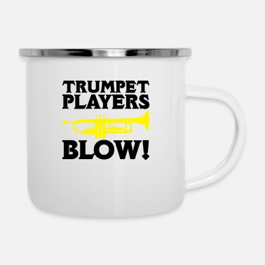 Blowen Trumpet Players Blow - Emaille mok