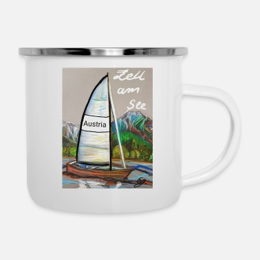 See EG Zell am See - Boot - Emaille-Tasse
