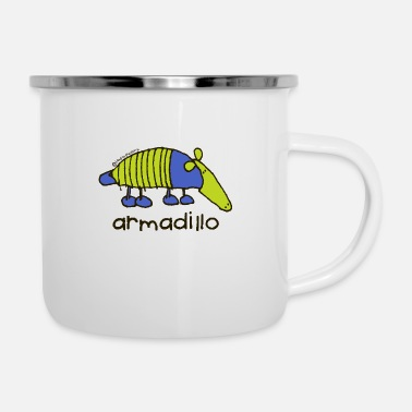 'armadillo'- Bang on the door - Enamel Mug