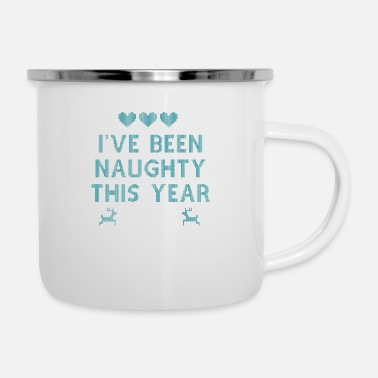 Funny Bible Parody I've been naughty this year - Enamel Mug