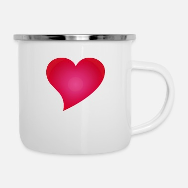 Cuore Herz / Heart / cuore / corazon - Emaille-Tasse