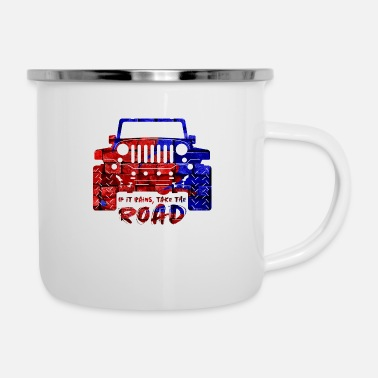 Dirt Jeep Jeep - Enamel Mug