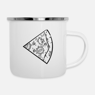 Pizza Pizza Love Couple Part 1 - Emaille-Tasse