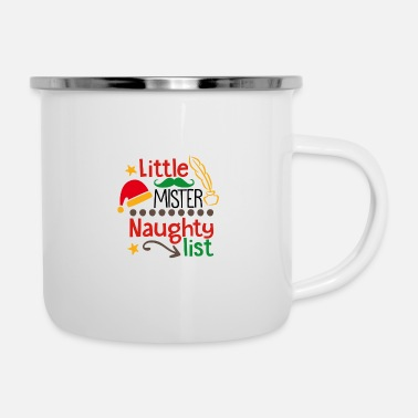 Little Italy Little Mister Naughty List - Emaille-Tasse